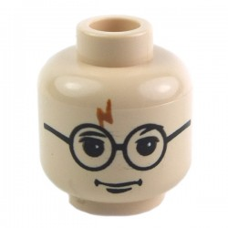 Light Flesh Minifig, Light Flesh Minifig, Head Glasses with Lightning Bolt on Forehead