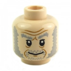 Light Flesh Minifig, Head Dual Sided Smiling / Scared