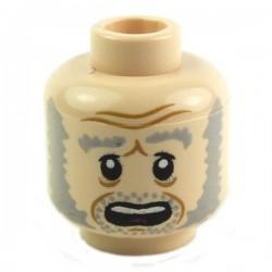 Lego Minifig Tête masculine, chair, 38 (double visage) (La Petite Brique)