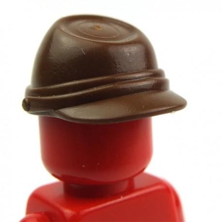 Lego Accessoires Minifig Casquette Militaire - Kepi (Marron) (La Petite Brique)