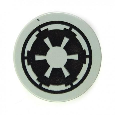 Lego Accessoires Minifig Tile Rond 2 x 2, Star Wars Imperial (Light Gray) (La Petite Brique)
