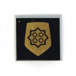 Light Bluish Gray Tile 1 x 1 with World City Gold Police Badge