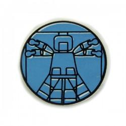 Lego Accessoires Minifig Light Blue Vitruvian Minifig - Tile rond 2 x 2 (La Petite Brique)