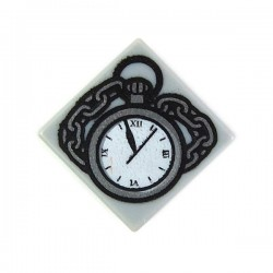 Light Bluish Gray Tile 1x1 Pocket Watch & Chain