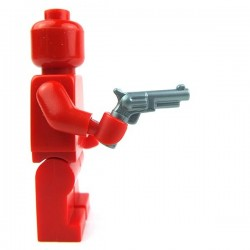 Lego Accessoires Minifig Revolver, petit barillet (Flat Silver) (La Petite Brique)