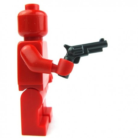 Lego Accessoires Minifig Revolver, petit barillet (Pearl Dark Gray) (La Petite Brique)