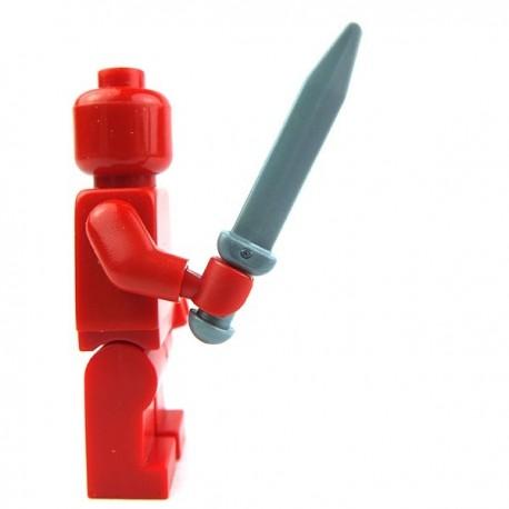 Lego Accessoires Minifig Glaive, Epée courte, Gladius (Flat Silver) (La Petite Brique)