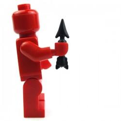 Lego Accessoires Minifig Custom BRICK WARRIORS Plumbata (Noir) La Petite Brique