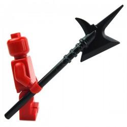 Lego Accessoires Minifig Custom BRICK WARRIORS Hallebarde City Watch (Noir) La Petite Brique