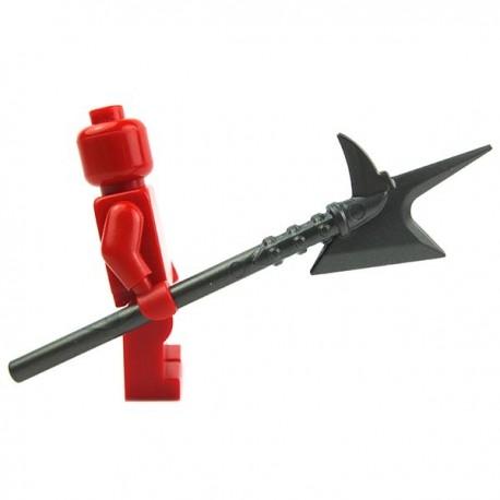 Lego Accessoires Minifig Custom BRICK WARRIORS Hallebarde City Watch (Steel) La Petite Brique