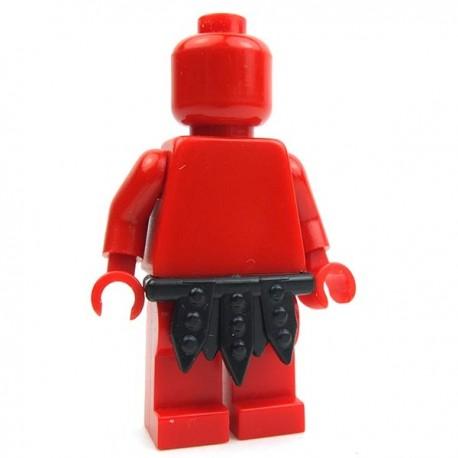Lego Accessoires Minifig Custom BRICK WARRIORS Pagne Gladiateur (Noir) La Petite Brique