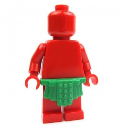 Lego Accessoires Minifig Custom BRICK WARRIORS Jupe Romaine (Vert) La Petite Brique