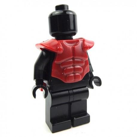Lego Accessoires Minifig Custom BRICK WARRIORS Cuirasse musclée (Dark Red) La Petite Brique