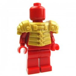 Lego Accessoires Minifig Custom BRICK WARRIORS Lorica Segmentata (Pearl Gold) La Petite Brique