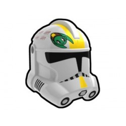 Lego Custom Minifig AREALIGHT White Waxer Trooper Helmet (La Petite Brique)