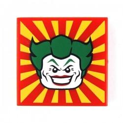 Lego Accessoires Minifig Tile 2x2 The Joker (Rouge) La Petite Brique