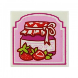 White Tile 2x2 Strawberry Preserves