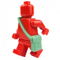 Lego Accessoires Minifig Sac besace (Sand Green) (La Petite Brique)