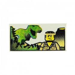 Lego Accessoires Minifig Tile 1x2, Minifig & Dinosaure (La Petite Brique)