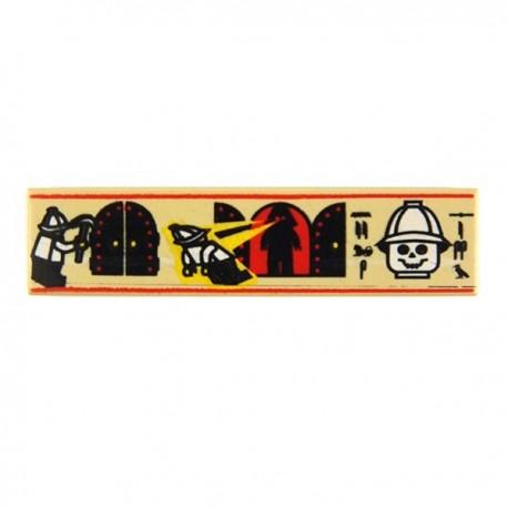 Tile 1x4 Hieroglyphs & Minifig