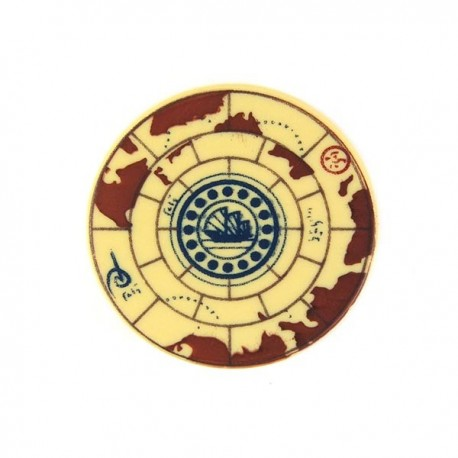 Tan Tile, Round 2x2 Treasure Map
