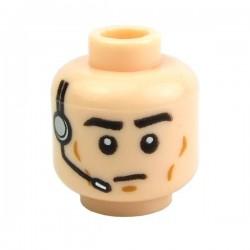 Lego Accessoires Minifig Tête masculine, chair, 40 (La Petite Brique)