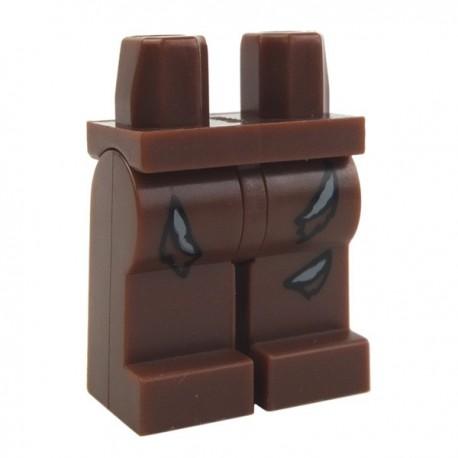 Lego Accessoires Minifig Jambes Pantalon déchiré (Reddish Brown) (La Petite Brique)
