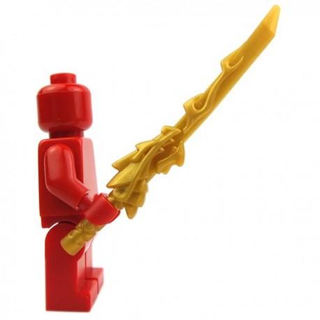 Lego Accessoires Minifig Katana Dragon Guard (Pearl Gold) (La Petite Brique)