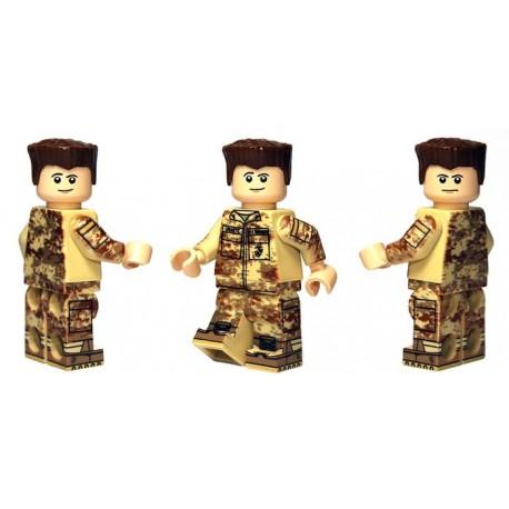 Lego Custom Minifig BRICKMOC Desert Marine (La Petite Brique)
