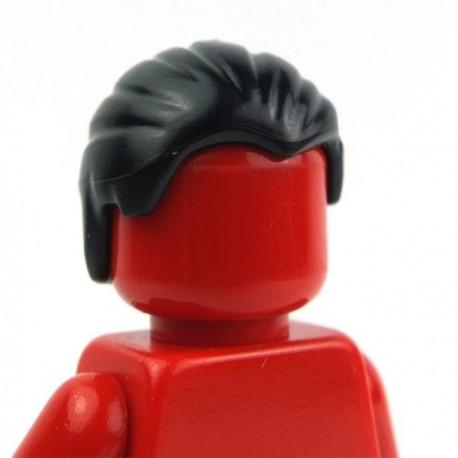 Lego Accessoires Minifig Cheveux en arrière (Noir) (La Petite Brique)