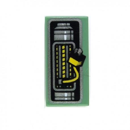 Lego Accessoires Minifig Tile 1x2, Cablage électrique (Sand Green) (La Petite Brique)
