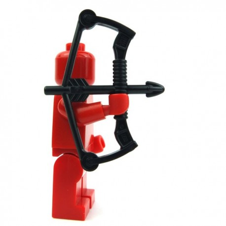 Black Minifig, Weapon Compound Bow with Arrow