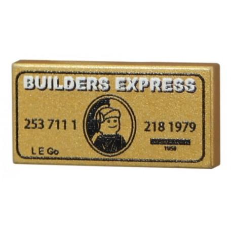Lego Accessoires Minifig CUSTOM BRICKS Builder Express (Gold) (La Petite Brique)