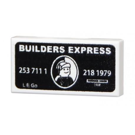 Lego Accessoires Minifig CUSTOM BRICKS Builder Express (Black) (La Petite Brique)
