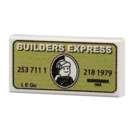 Lego Accessoires Minifig CUSTOM BRICKS Builder Express (Green) (La Petite Brique)