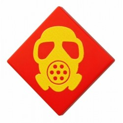 Gas Mask (Tile 2x2 - Red)