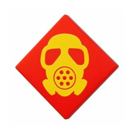 Lego Accessoires Minifig CUSTOM BRICKS Gas Mask (Tile 2x2 - Rouge) (La Petite Brique)