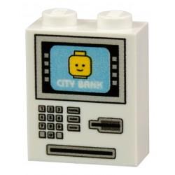 Lego Accessoires Minifig CUSTOM BRICKS Distributeur Automatique de Billets (Blanc) (La Petite Brique)