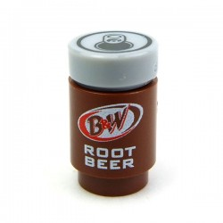 Lego Accessoires Minifig CUSTOM BRICKS Canette B&W Root Beer (La Petite Brique)