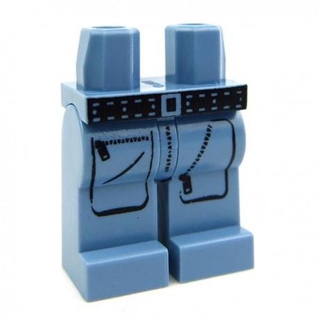 Lego Accessoires Minifig CUSTOM BRICKS Explorer Cargo Pants (Sand Blue) (La Petite Brique)