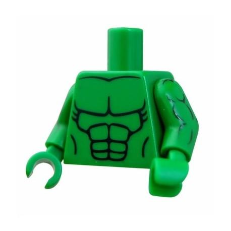 Lego Accessoires Minifig CUSTOM BRICKS Torse et bras Musclé (Vert) (La Petite Brique)