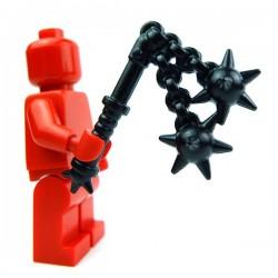 Lego Accessoires Minifig Custom BRICK WARRIORS Double Fléau (Noir) (La Petite Brique)