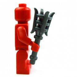 Lego Accessoires Minifig Custom BRICK WARRIORS Torche (Steel) (La Petite Brique)