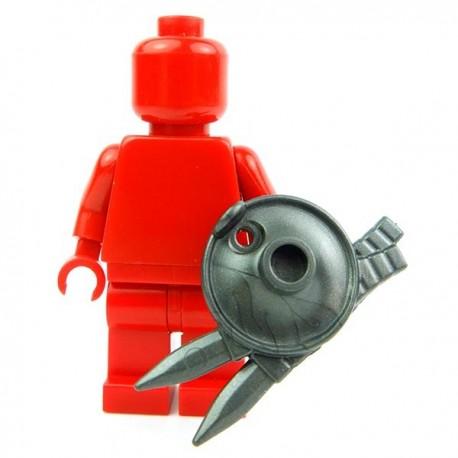 Lego Accessoires Minifig Custom BRICK WARRIORS Bouclier Lanterne (Steel) (La Petite Brique)