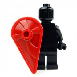 Lego Accessoires Minifig Custom BRICK WARRIORS Bouclier Kite (Rouge foncé) (La Petite Brique)