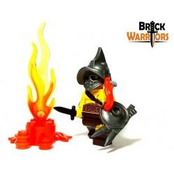 Lego Accessoires Minifig Custom BRICK WARRIORS Bouclier Lanterne (Pearl Gold) (La Petite Brique)