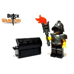 Lego Accessoires Minifig Custom BRICK WARRIORS Torche (Noir) (La Petite Brique)