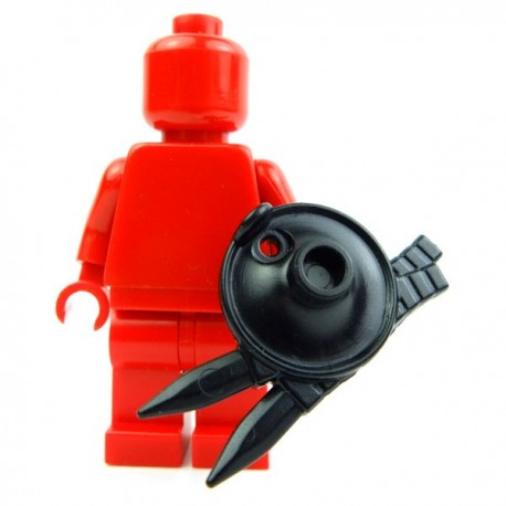 Lego Custom Accessoires Minifig BRICK WARRIORS Bouclier Lanterne (noir) (La Petite Brique)
