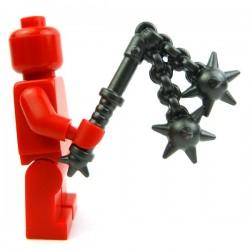 Lego Custom Accessoires Minifig BRICK WARRIORS Double Fléau (Steel) (La Petite Brique)