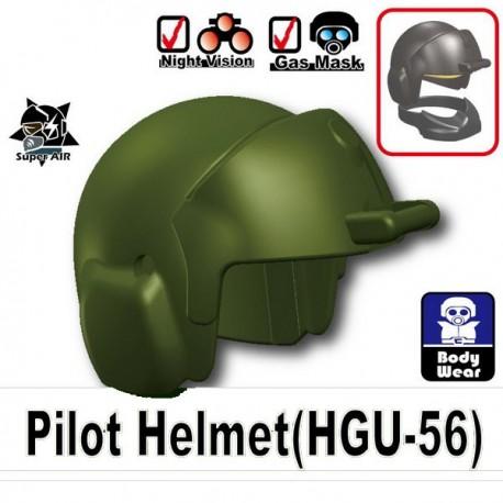 Lego Accessoires Minifig Si-Dan Toys Casque Pilote (HGU-56) (Vert Militaire) (La Petite Brique)